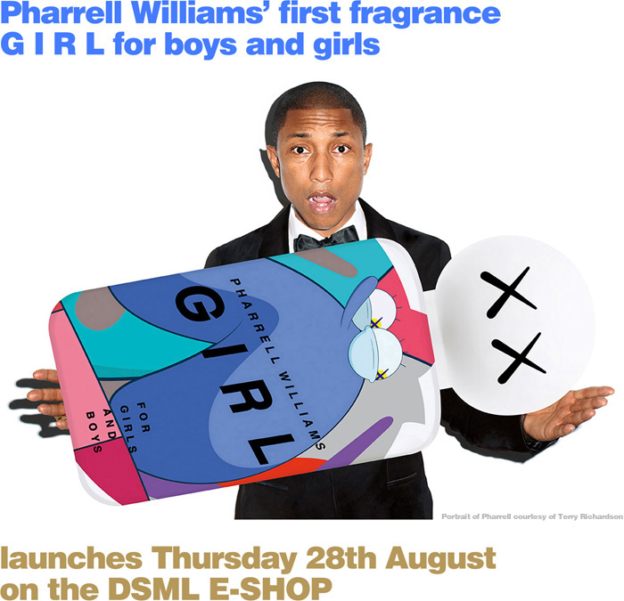 G I R L BY PHARRELL WILLIAMS LAUNCHES THURSDAY 28TH AUGUST ON THE DSML E-SHOP